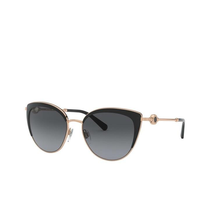 sunglasses, BVLGARI, 0BV6133 Pink Gold/Black
