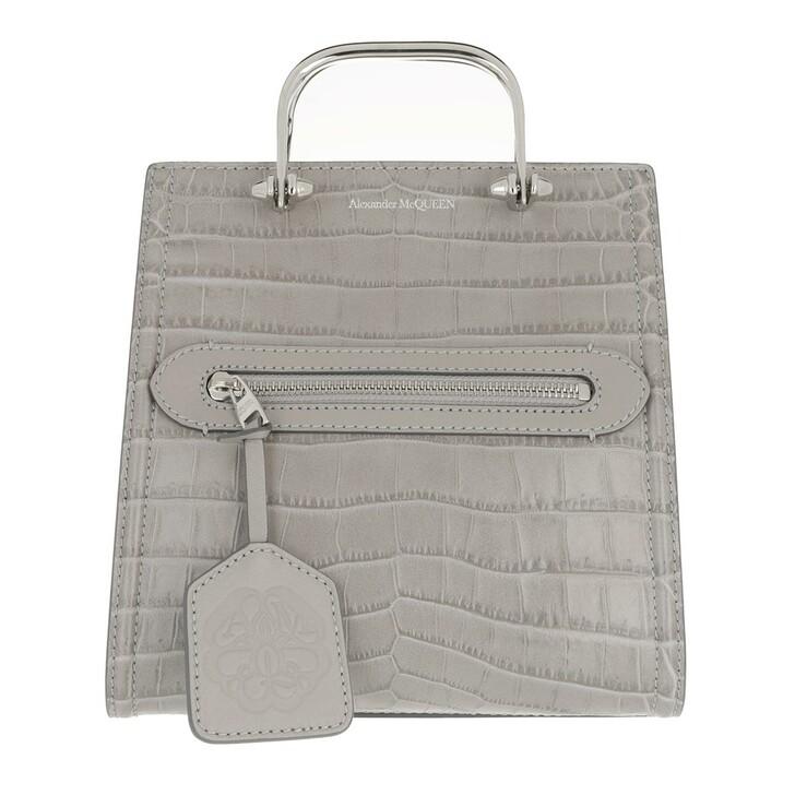 bags, Alexander McQueen, The Short Story Crossbody Bag Grey