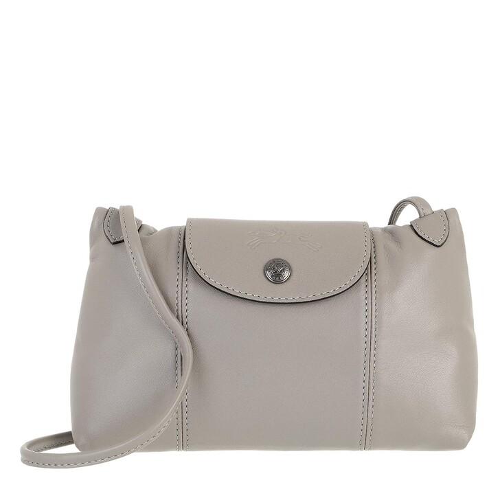 bags, Longchamp, Le Pliage Cuir Crossbody Bag Turtle Dove