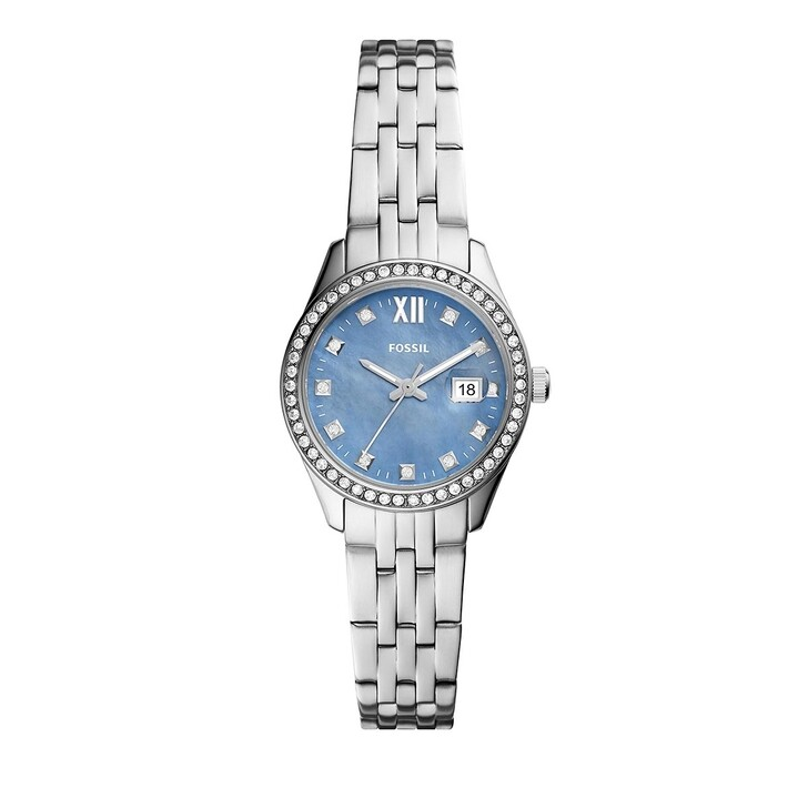 Uhr, Fossil, Scarlette Micro Three-Hand Date Stainless Steel Wa Silver