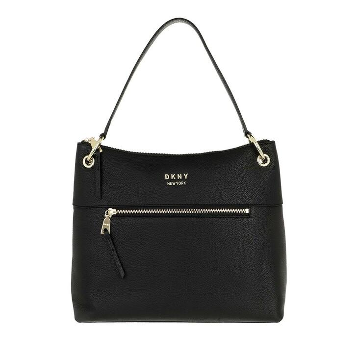 Handtasche, DKNY, Gregorio Hobo Blk/Gold