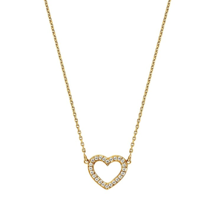 Kette, BELORO, Necklace Heart Zirconia  Gold-Plated
