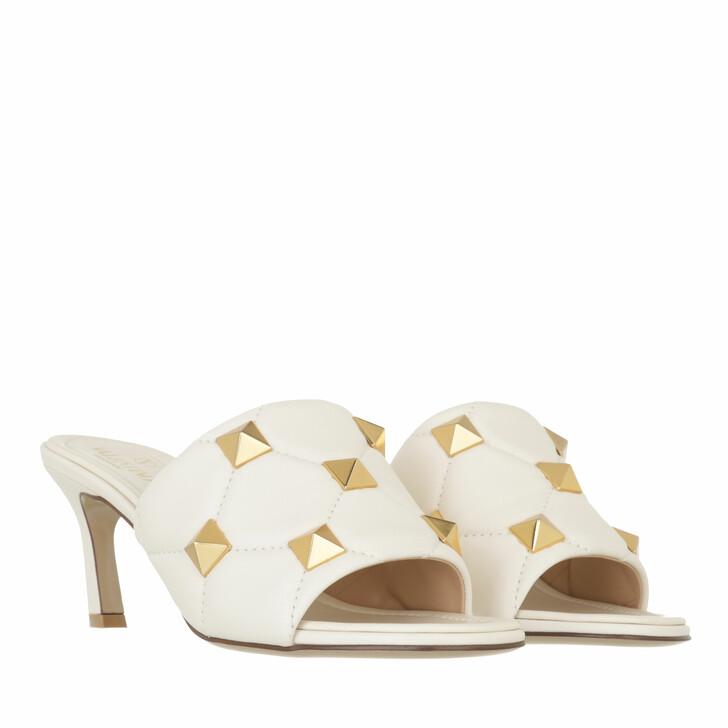 shoes, Valentino Garavani, Roman Stud Mules Light Ivory