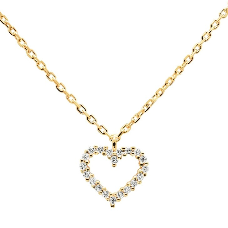 Kette, PDPAOLA, Necklace Heart White/Yellow Gold
