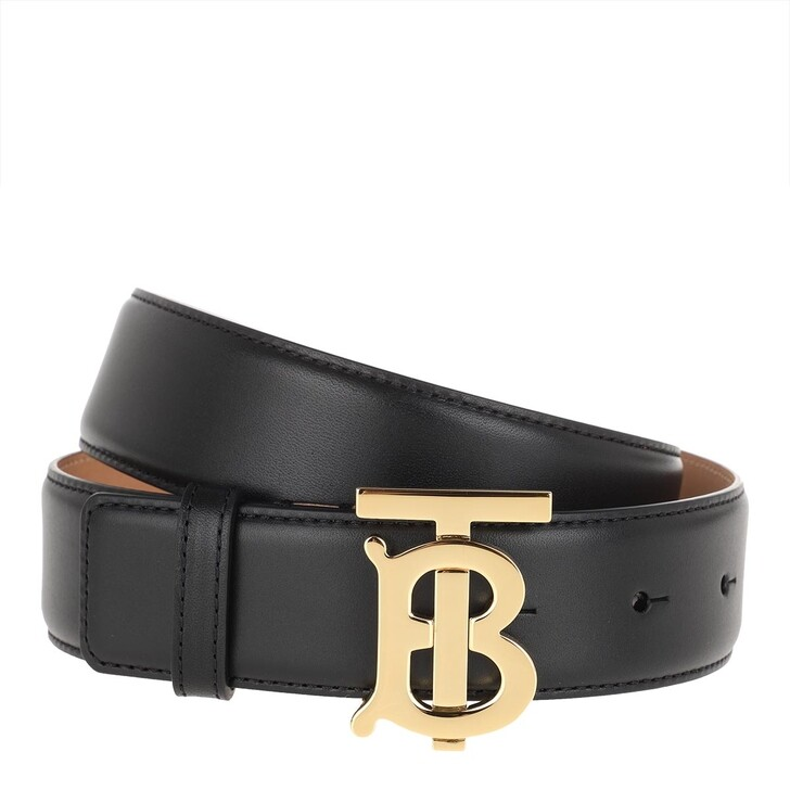 Gürtel, Burberry, TB Logo Belt Leather Black