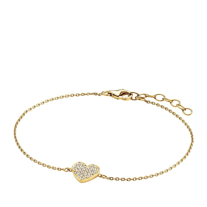 Armreif, BELORO, Bracelet Heart Zirconia  Gold-Plated