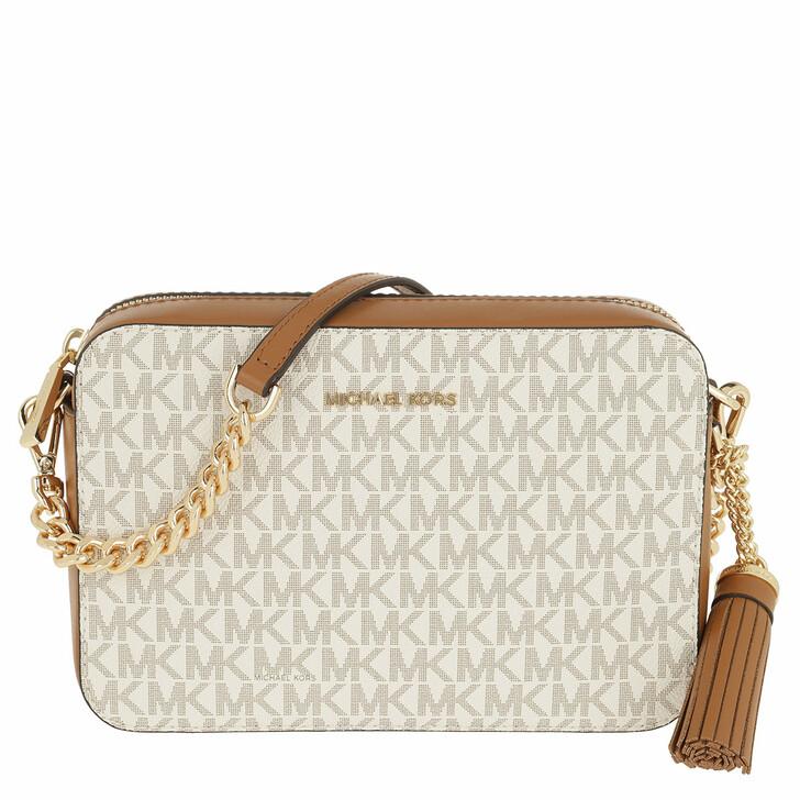 Handtasche, MICHAEL Michael Kors, Ginny Medium Logo Crossbody Bag Vanilla