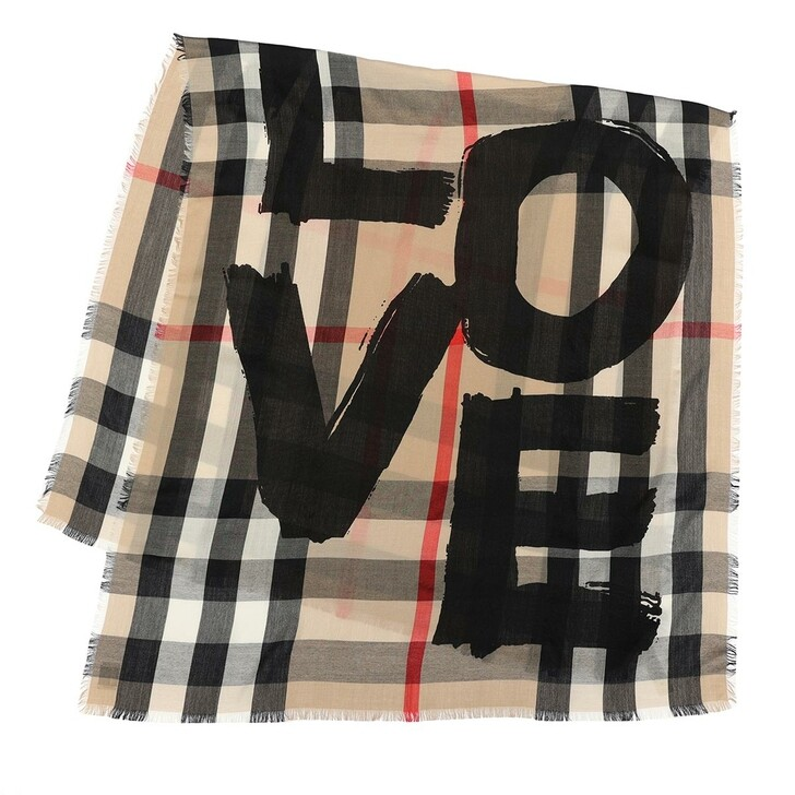 scarves, Burberry, Giant Check Scarf Archive Beige