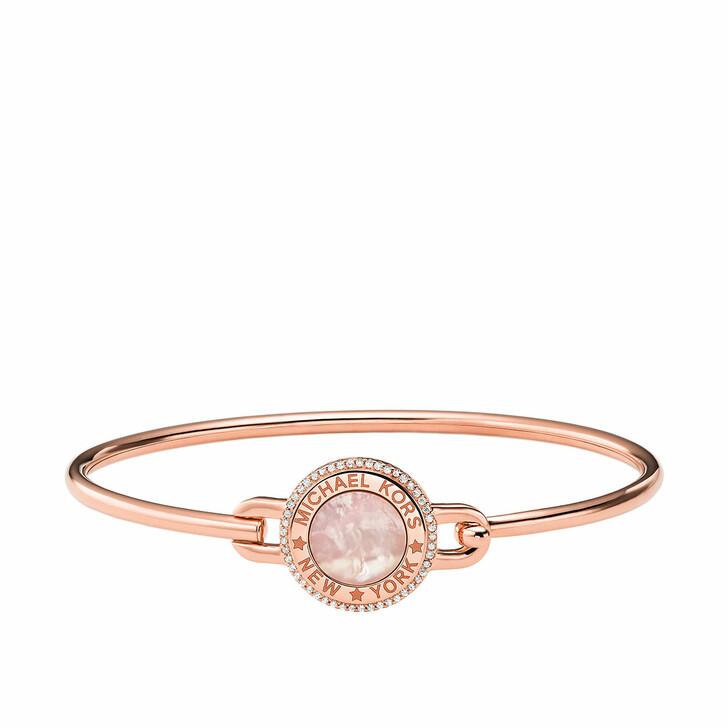 Armreif, Michael Kors, 14k Gold-Plated Focal Stone Flexi Bracelet Rose Gold-Tone
