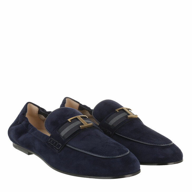 Schuh, Tod's, Loafers Soft Suede Darkblue