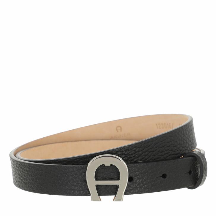 belts, AIGNER, Palermo Belt 3 cm Black