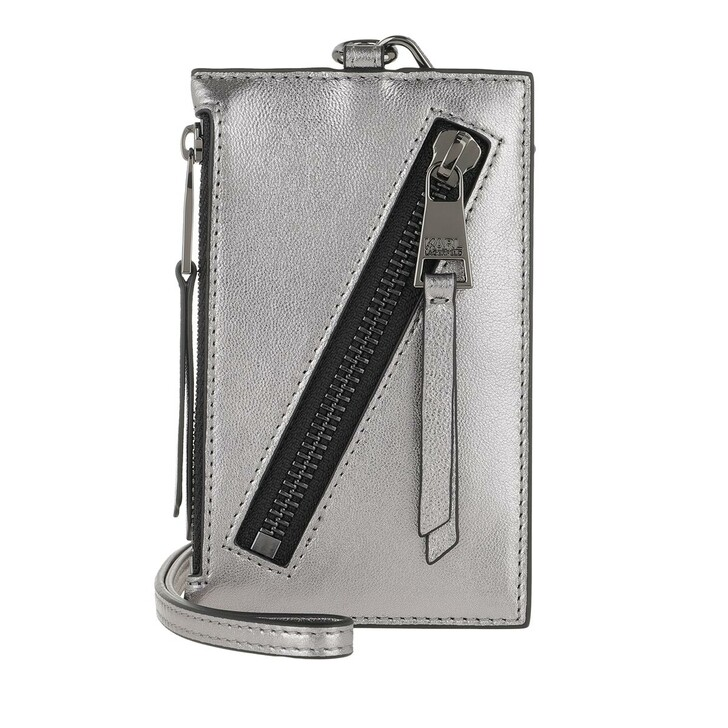 Geldbörse, Karl Lagerfeld, Odina Badge Holder Gunmetal