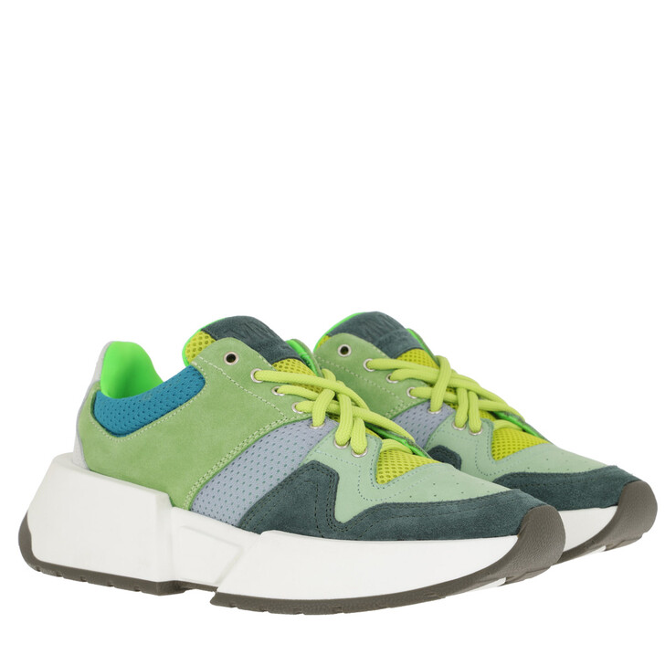 Schuh, MM6 Maison Margiela, Sneakers Jasper Green/Fog Green/Kentucky Blue/Foliage Green