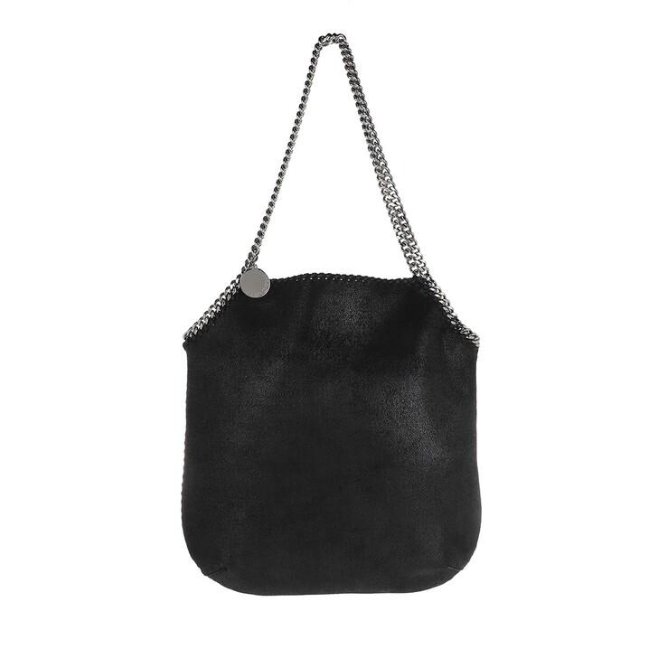 bags, Stella McCartney, Shaggy Deer Large Tote Bag Black