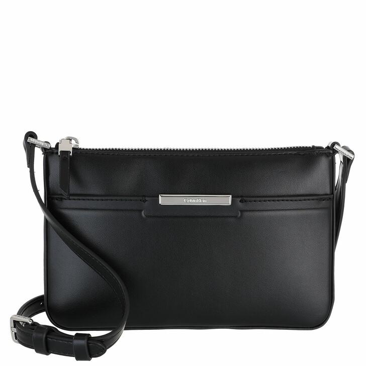 bags, Calvin Klein, Focused Ew Xbody CK Black