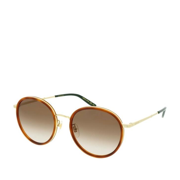 sunglasses, Gucci, GG0677SK-003 55 Sunglasses Havana-Gold-Brown