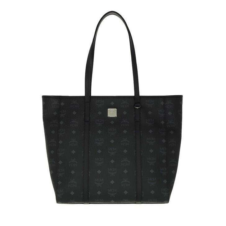 Handtasche, MCM, Toni Visetos Ns Shopper Medium   Black