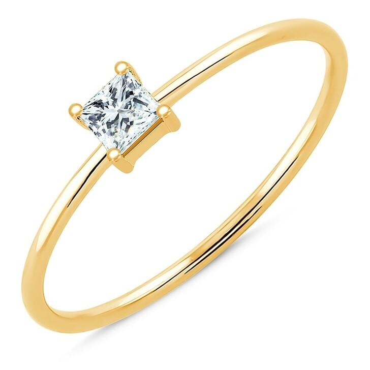 rings, Pukka Berlin, Princess Wire Stack Ring Yellow Gold
