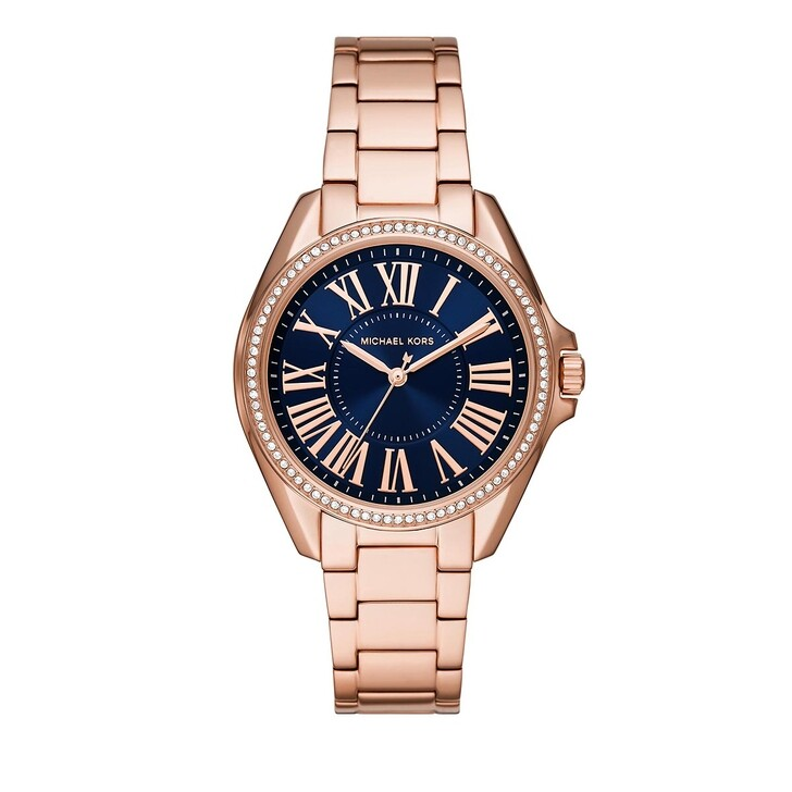 watches, Michael Kors, Women Kacie Three-Hand Stainless Steel Watch Rose Gold-Tone