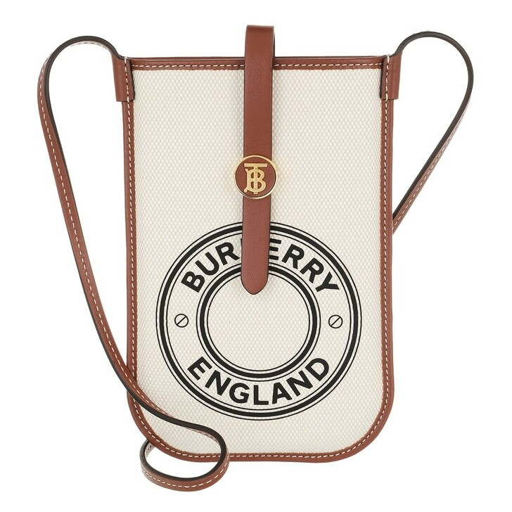 Smartphone/Tablet case (Bag), Burberry, Phone Case With Strap White/Tan