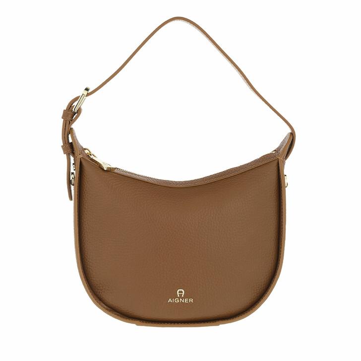 bags, AIGNER, Ivy Crossbody Bag Dark Toffee Brown