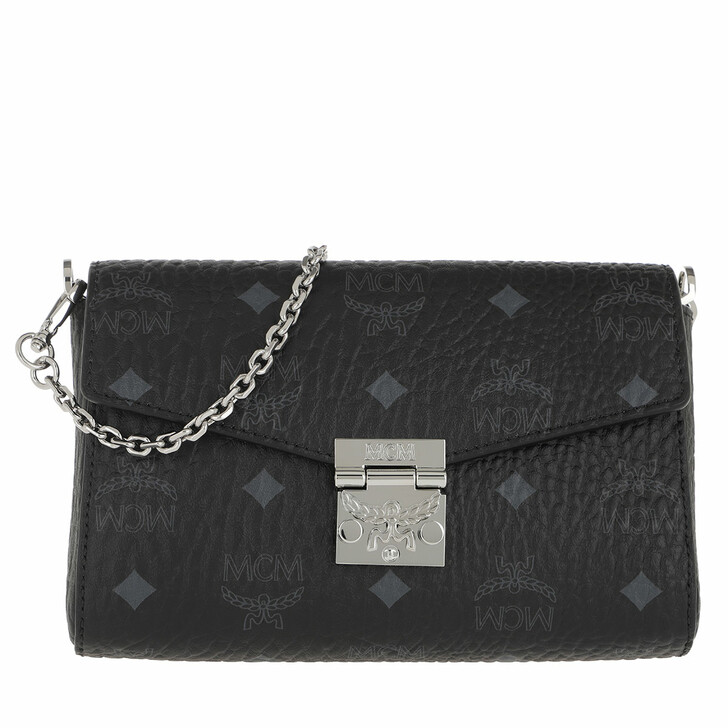 Handtasche, MCM, Millie Visetos Crossbody Small Black