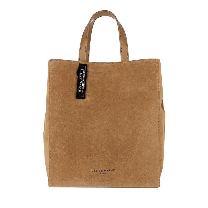 bags, Liebeskind Berlin, Paper Bag Suede Paper Bag M Sepia