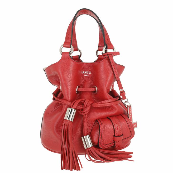 bags, Lancel, Bucket Bag S Red Lancel