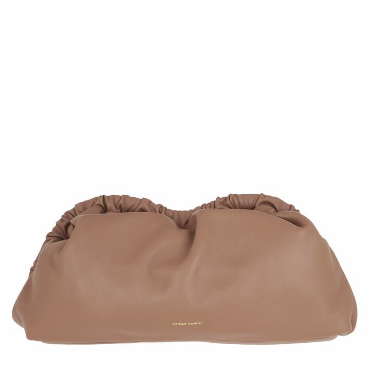 bags, Mansur Gavriel, Cloud Clutch Leather Biscotto