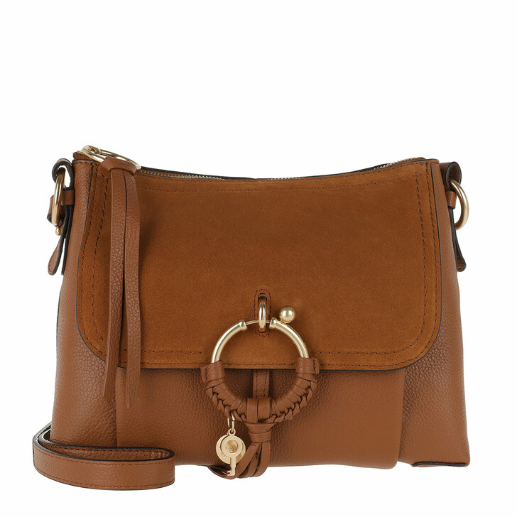 Handtasche, See By Chloé, Joan Shoulder Bag Suede Caramello