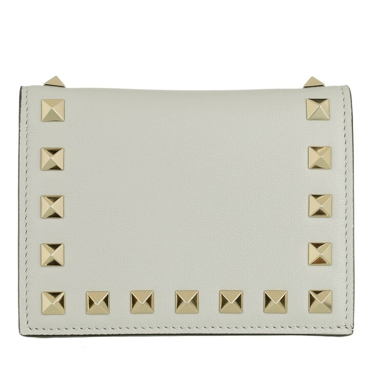 wallets, Valentino Garavani, Rockstud Small Wallet Opal Grey