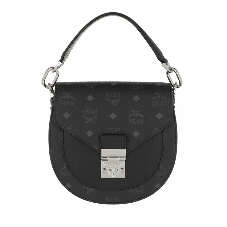 Handtasche, MCM, Patricia Visetos Shoulder Bag Small Black