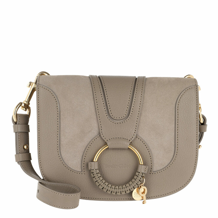 Handtasche, See By Chloé, Hana Crossbody Suede Smooth Motty Grey