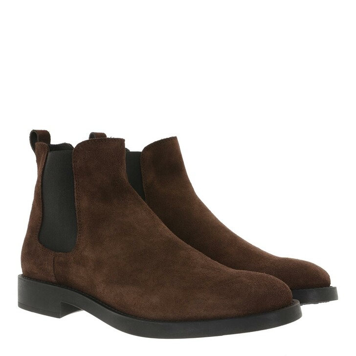 Schuh, Tod's, Ankle Boots Suede Dark Brown