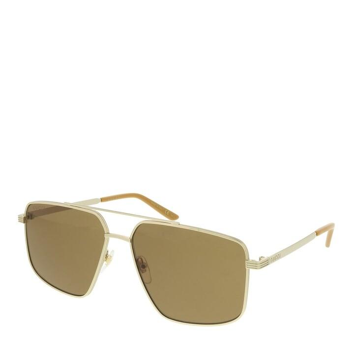 Sonnenbrille, Gucci, GG0941S-003 60 Sunglass MAN METAL GOLD