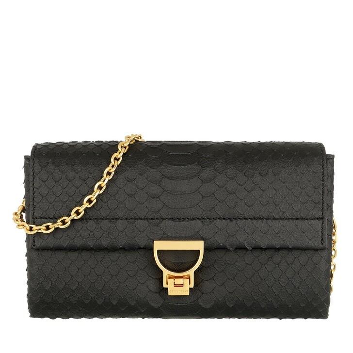 Handtasche, Coccinelle, Arlettis Python Lulula Crossbody Bag Noir