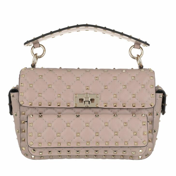 bags, Valentino Garavani, Rockstud Shoulder Bag Leather Poudre