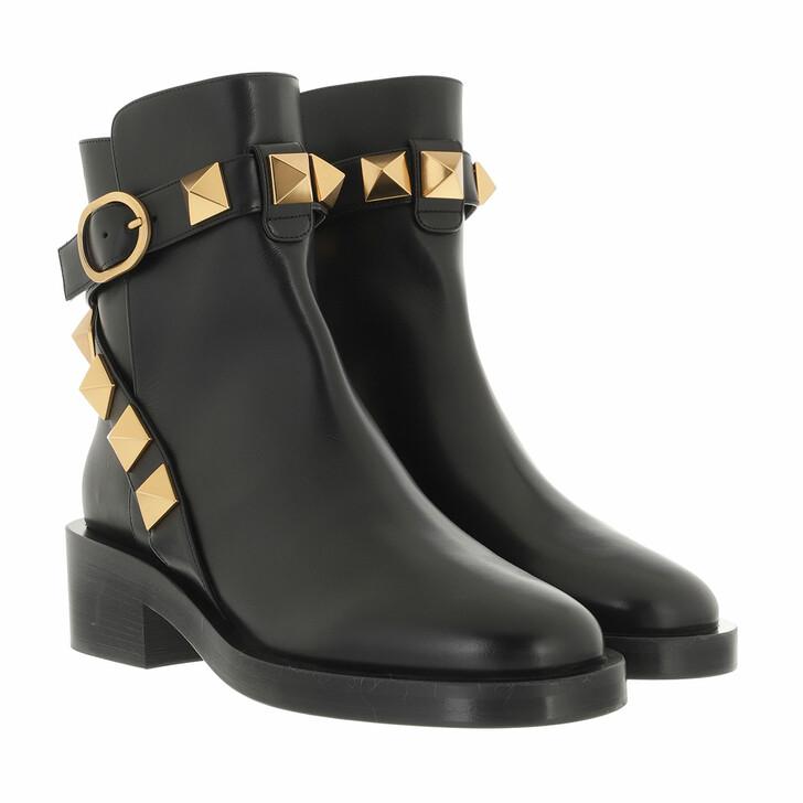 shoes, Valentino Garavani, Stud Bootie T.30 Leather Black