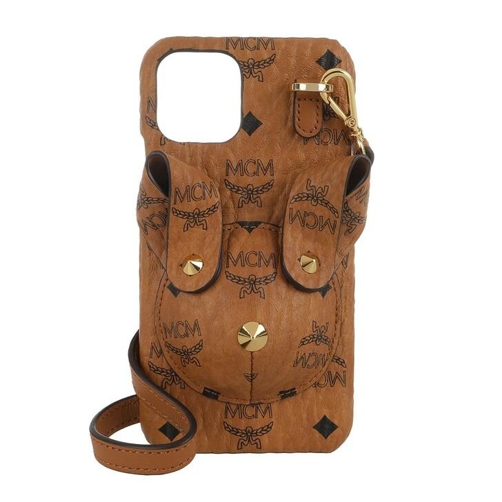 Smartphone/Tablet case (Case), MCM, Rabbit Phone Case W Strap Cognac