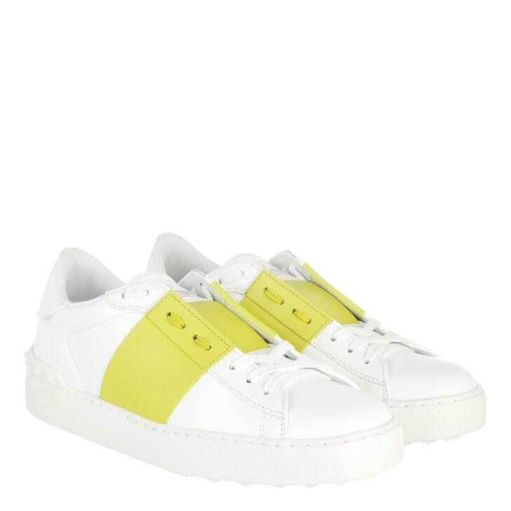 Schuh, Valentino Garavani, Bicolor Rockstud Sneaker White/Cedar