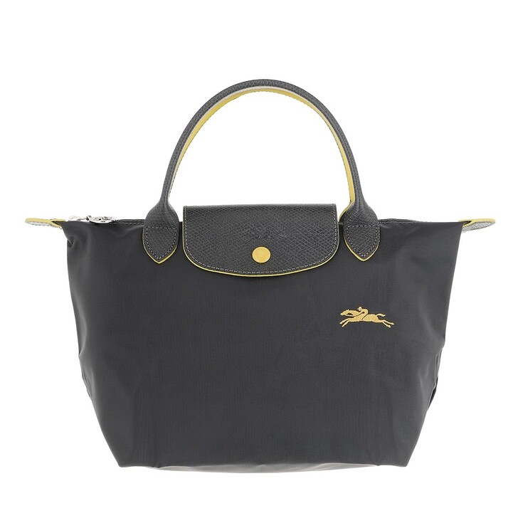 bags, Longchamp, Le Pliage Club Handbag  Metal Grey