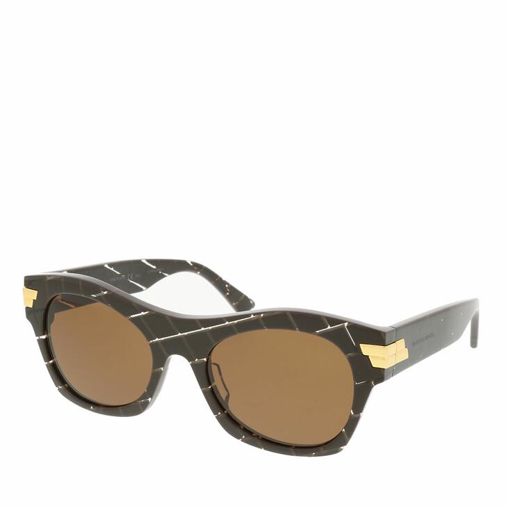 Sonnenbrille, Bottega Veneta, BV1103S-003 54 Sunglass UNISEX ACETATE BROWN
