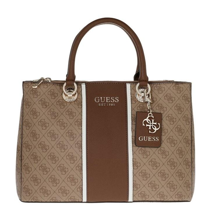 bags, Guess, Cathleen Status Carryall Brown