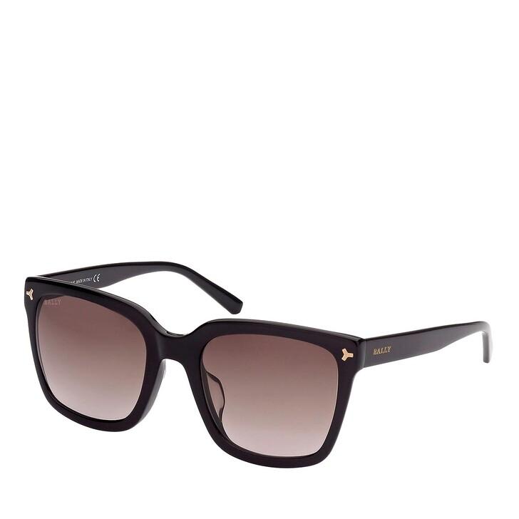 sunglasses, Bally, BY0034-H Shiny Black /Gradient Bordeaux
