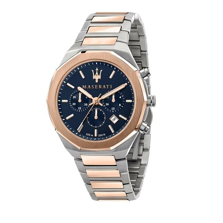 Uhr, Maserati, Watch Stile 45 mm Silver/White