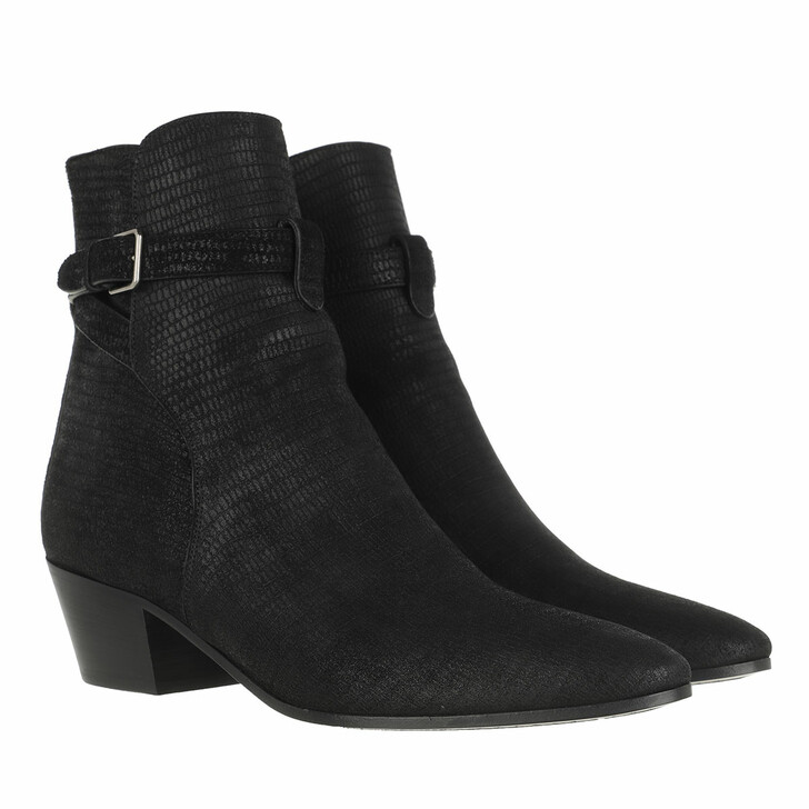 Schuh, Saint Laurent, West 45 Buckle Strap Boot Black