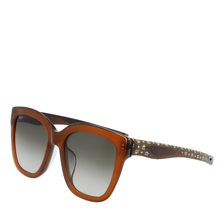 Sonnenbrille, MCM, MCM697SLA BROWN/OLIVE VISETOS