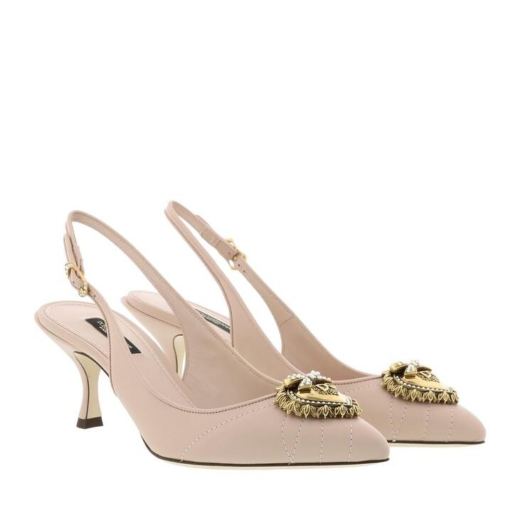 Schuh, Dolce&Gabbana, Slingback Pumps Devotion Lamb Skin Cipria