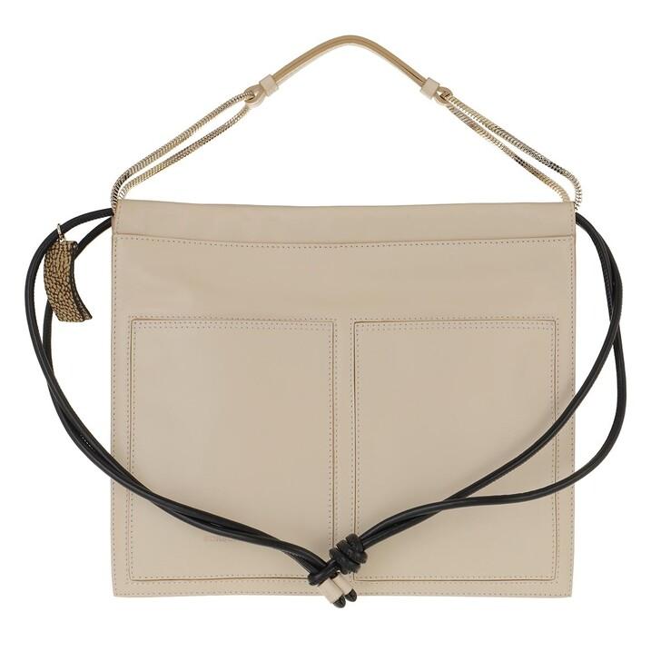bags, Borbonese, Medium Centerfold Hobo Bag Beige