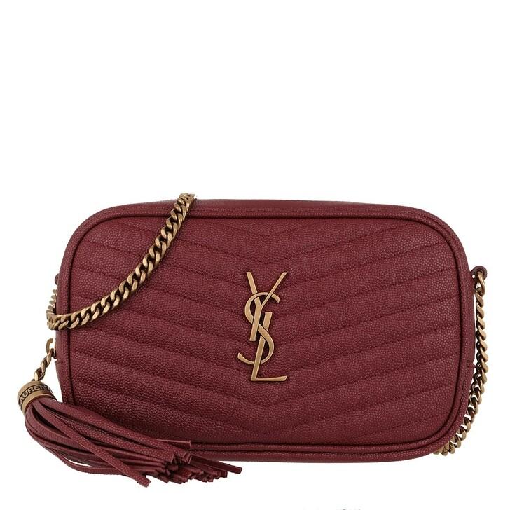 Handtasche, Saint Laurent, Lou Crossbody Bag Leather Opyum Red